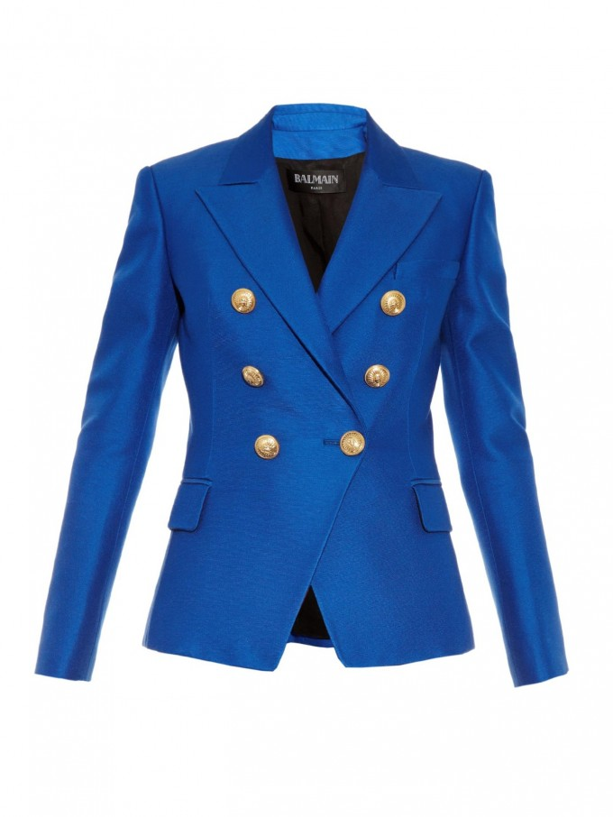 Leather Double Breasted Jacket   Double Brested Blazer   Balmain Double Breasted Blazer