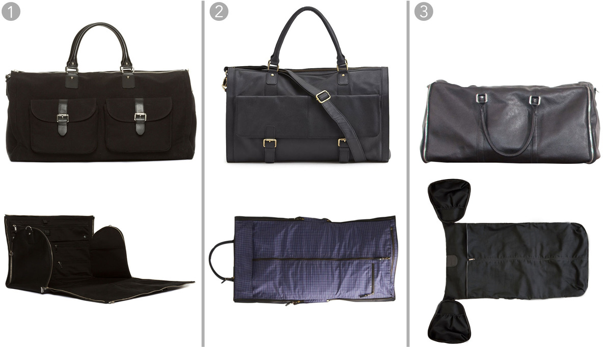 Leather Duffle Bag | Weekender Bag for Men | Rolling Duffle