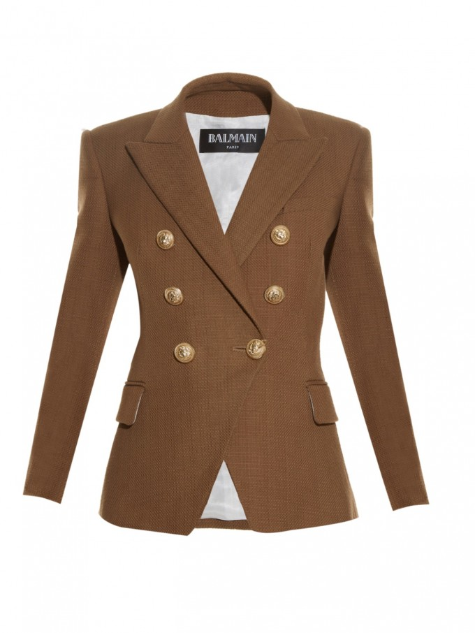Leather Jacket Balmain | Balmain Double Breasted Blazer | Double Breasted Blazer Women
