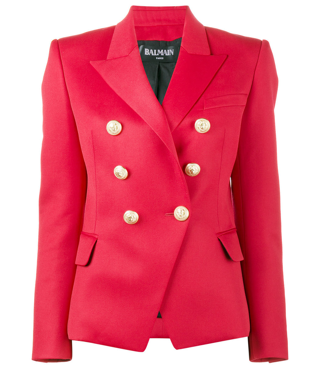 Leather Jacket Balmain | Double Brested Blazer | Balmain Double Breasted Blazer
