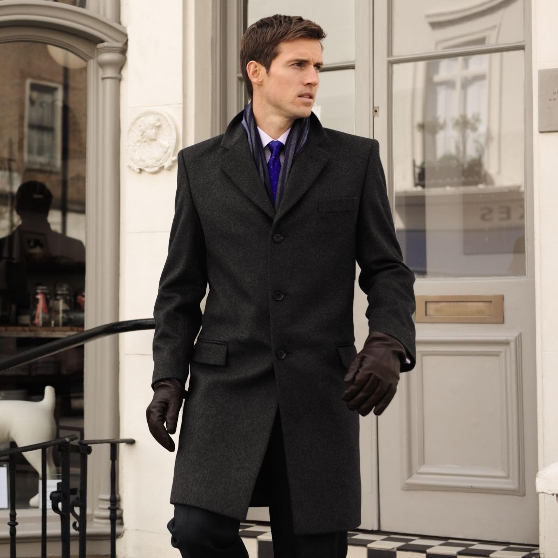 Leather Overcoat Mens | Grey Mens Overcoat | Mens Overcoats