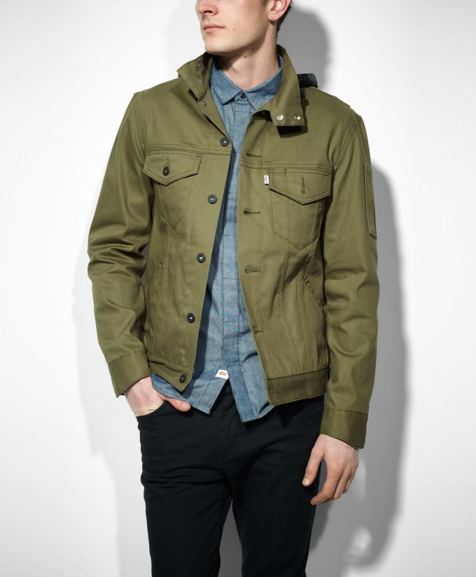 Levis Commuter Jacket | Hooded Trucker Jacket | Levis Slim Fit Trucker Jacket
