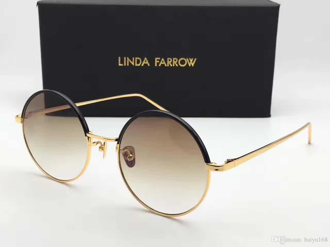 Linda Farrow Gold Sunglasses | Linda Farrow Oversized Round Sunglasses | Linda Farrow Sunglasses