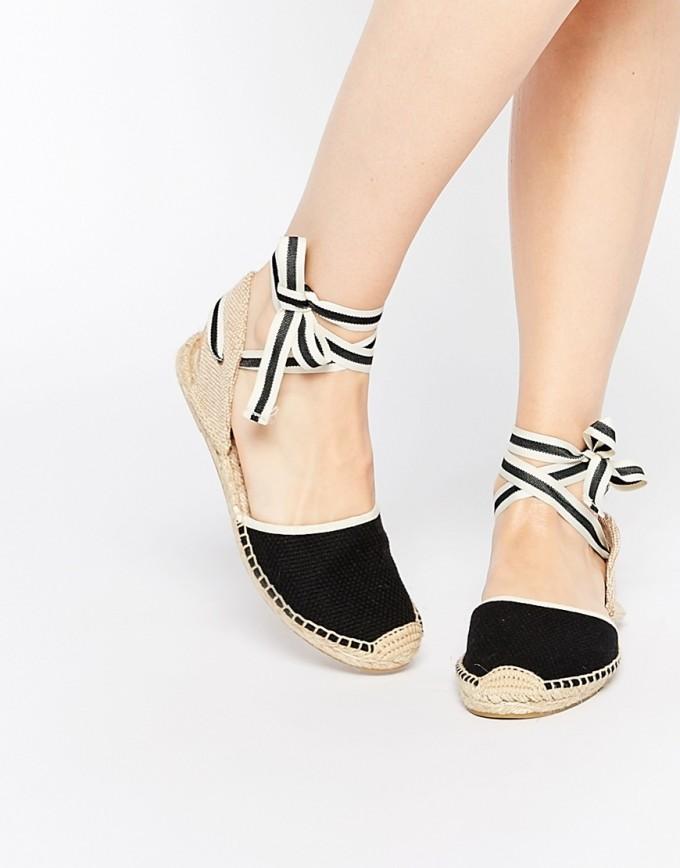 Low Wedge Espadrilles | Espadrilles Tie Up | Tie Up Wedge Sandals