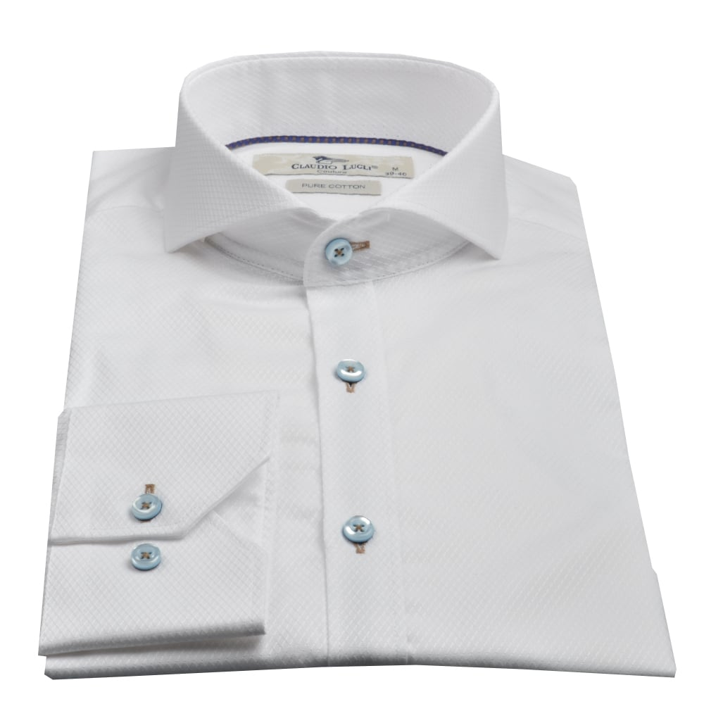 Mandarin Collar Dress Shirts | Cutaway Collar | Button Down Shirt Without Collar