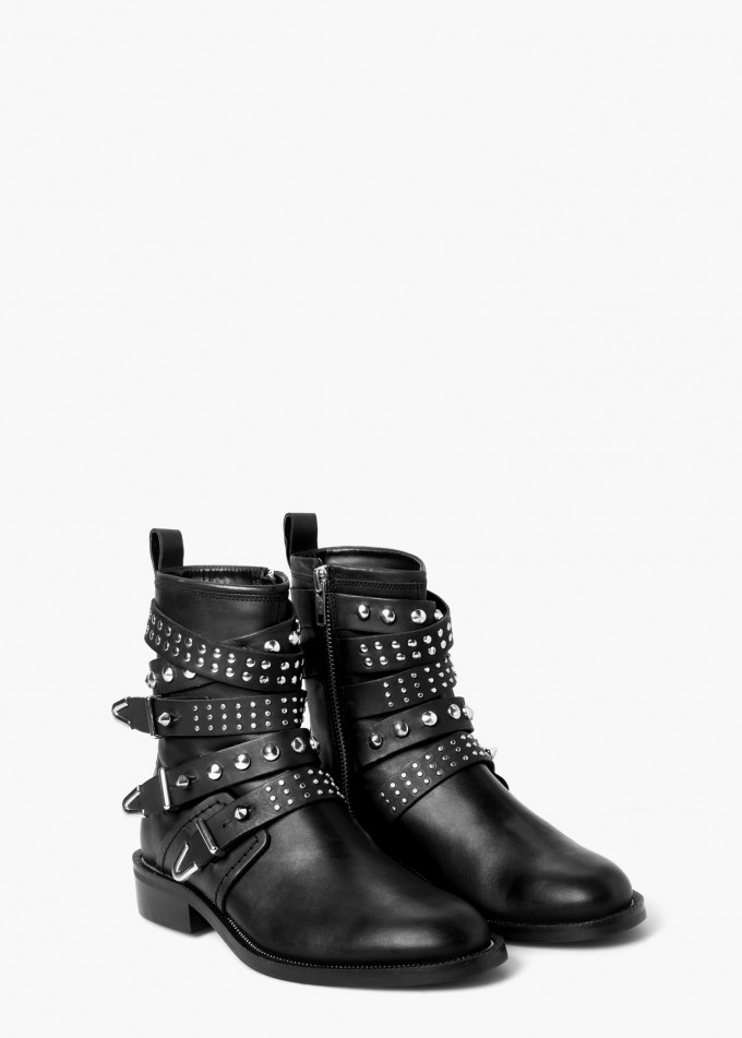 Maroon Booties   Fringed Ankle Boots   Black Ankle Boots With Buckles