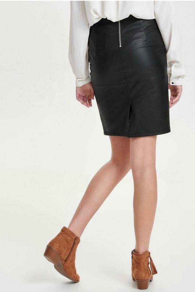 Maroon Pleated Skirt | Pleather Mini Skirt | Faux Leather Skirt