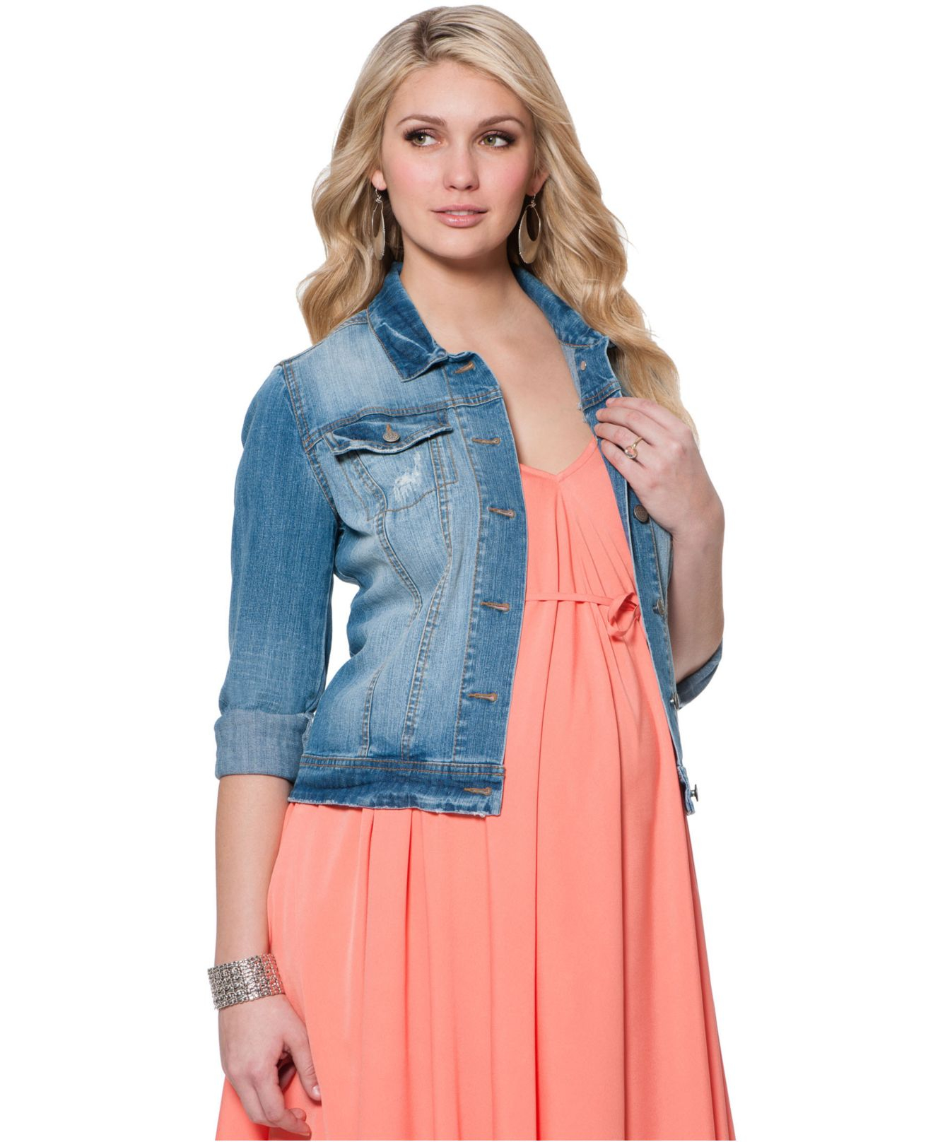Maternity Clothes at Target | Maternity Jean Jacket | Maternity Jackets