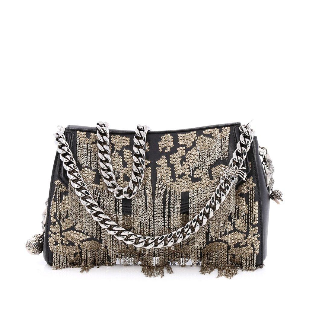 Mcqueen Handbag | Alexander Mcqueen Bags | Alexander Mcqueen Scarf Red