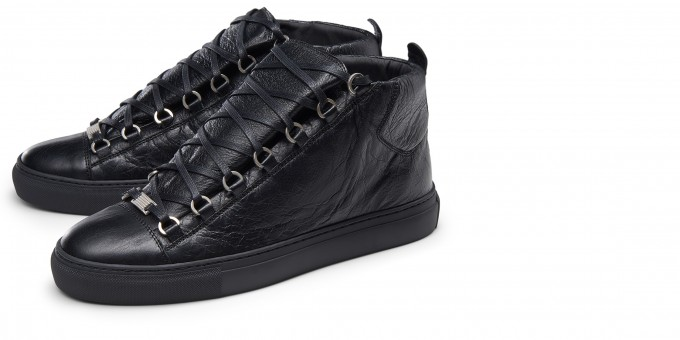 Mens Christian Louboutin Shoes | Balenciaga Arena Sneakers | Suede High Tops