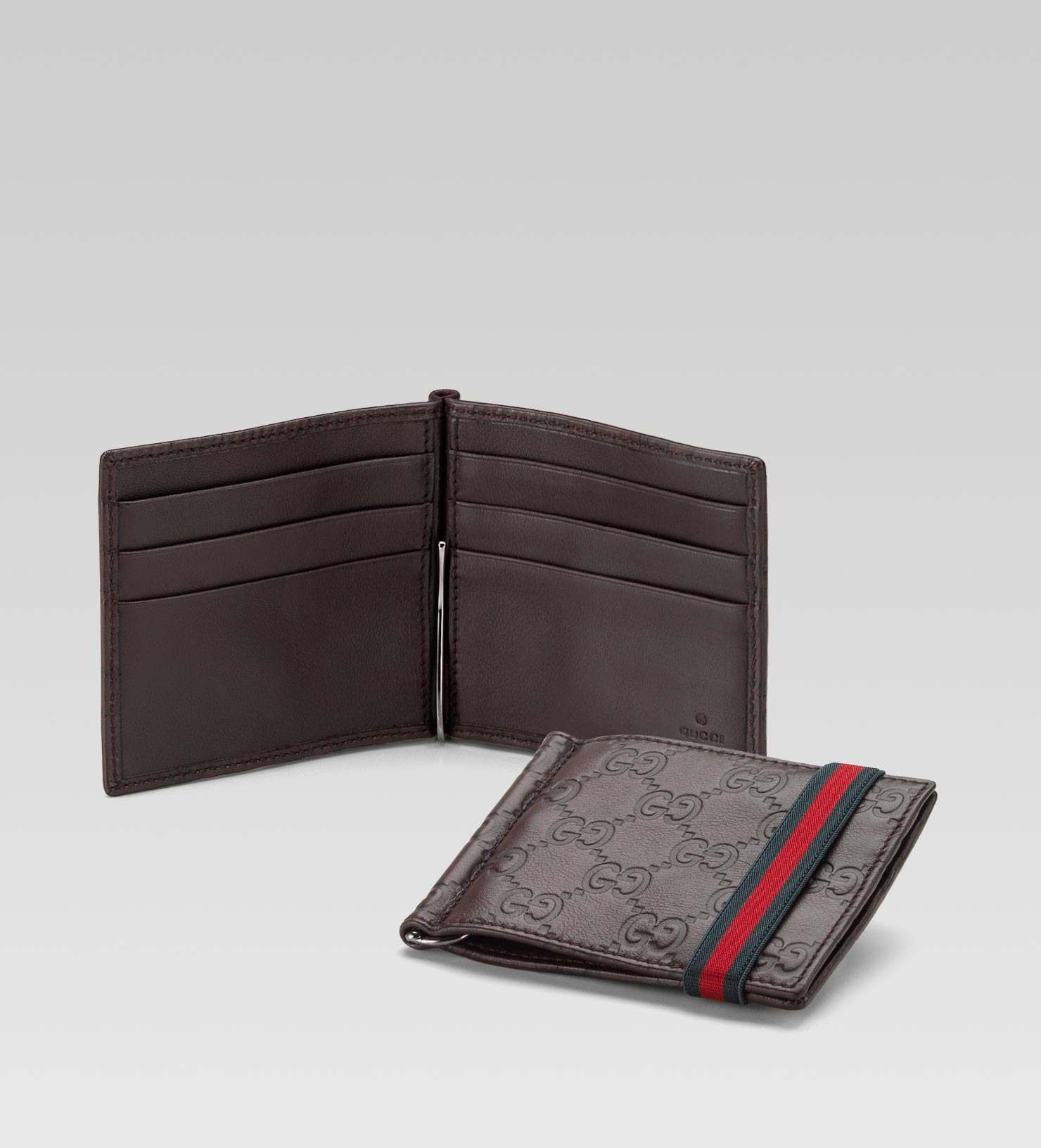 Mens Credit Card Holder with Money Clip | Luxury Mens Wallets | Gucci Money Clip