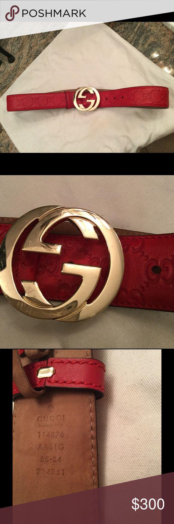Mens Louis Vuitton Belt | Red Gucci Belt | Gucci Belt All Red