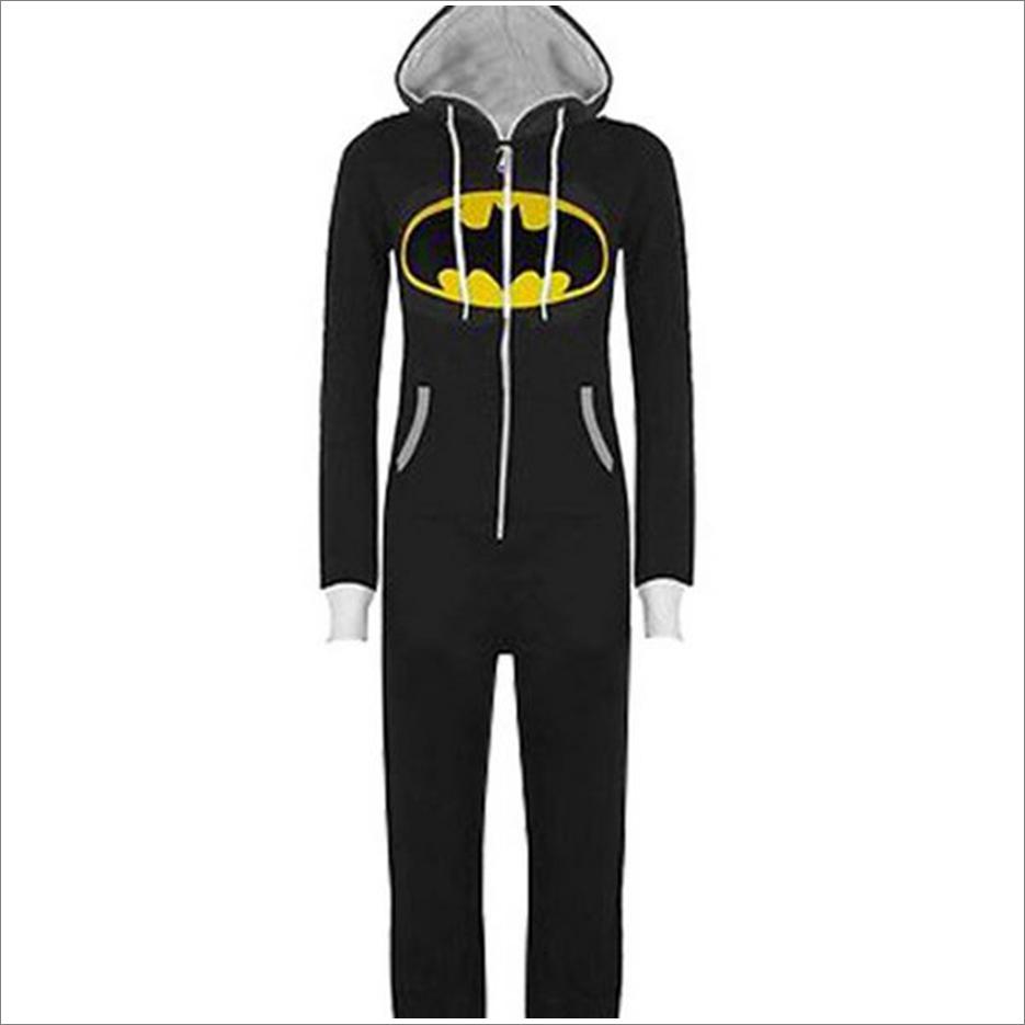 Mens Onesie Costume | Batman Onesie Pajamas for Adults | Batman Onesie