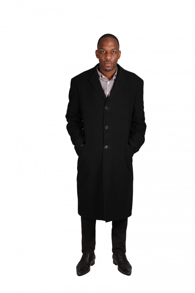 Mens Overcoats | Mens Long Tweed Overcoat | Hugo Boss Overcoat