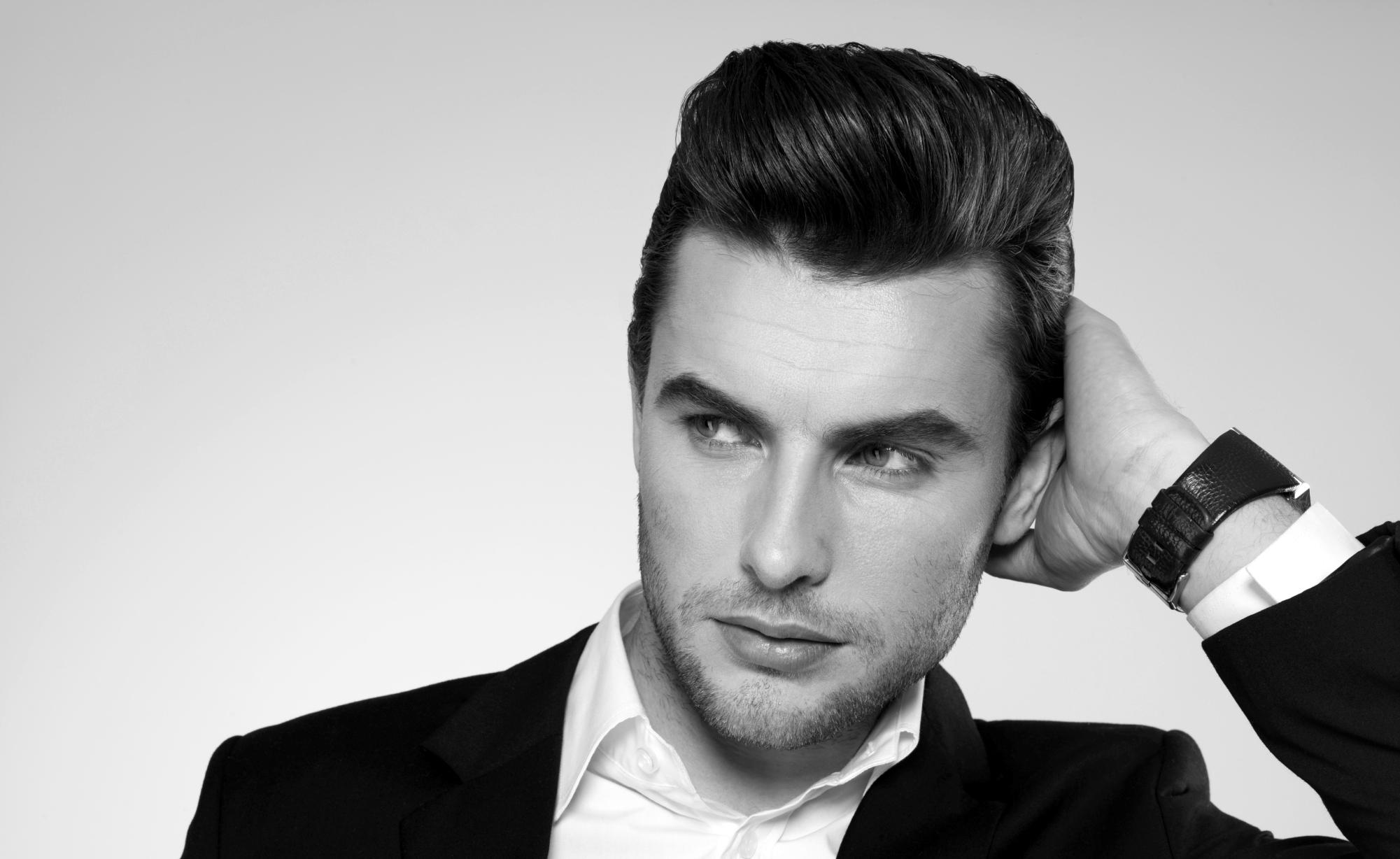 Mens Parted Hair Styles | Haircut Measurements | Mens Quiff