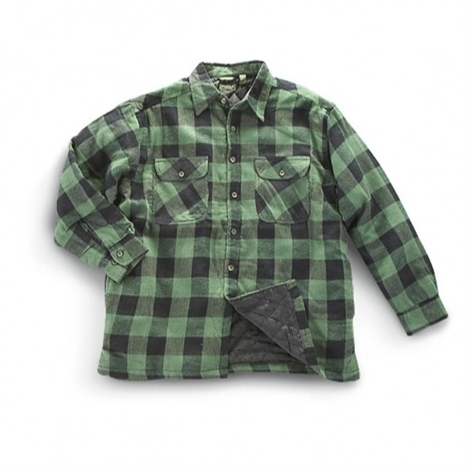 Mens Solid Color Flannel Shirts | Quilted Flannel Shirt | Mens Flannel Shirt Jacket