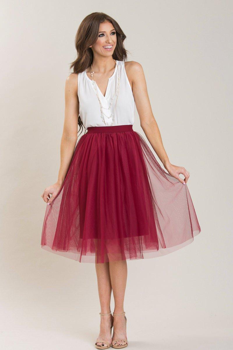 Mint Tulle Skirt | Tulle Midi Skirt | Mid Length Tulle Skirt