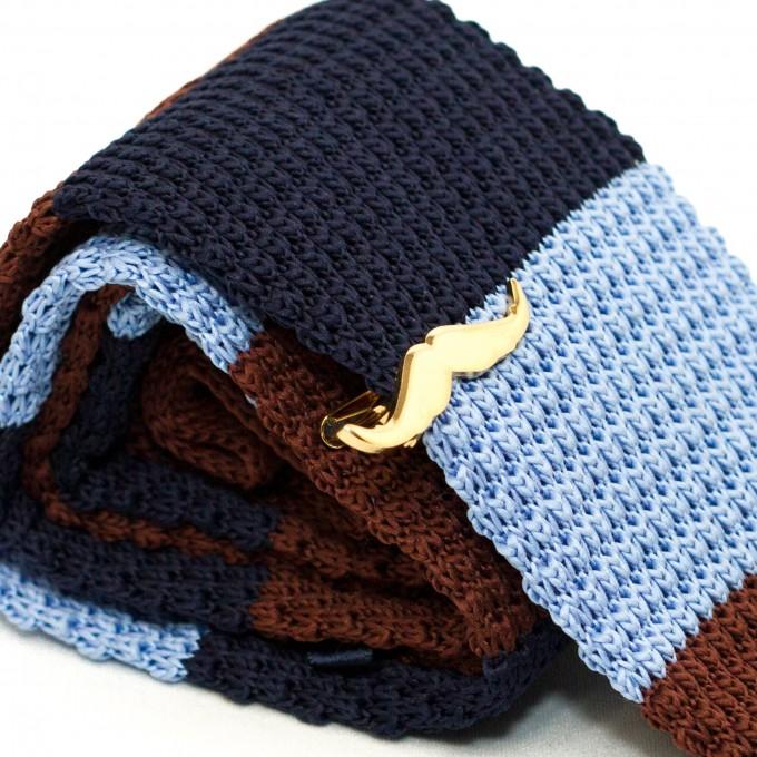 Navy Blue Knitted Tie | Black Knitted Silk Tie | Knit Ties