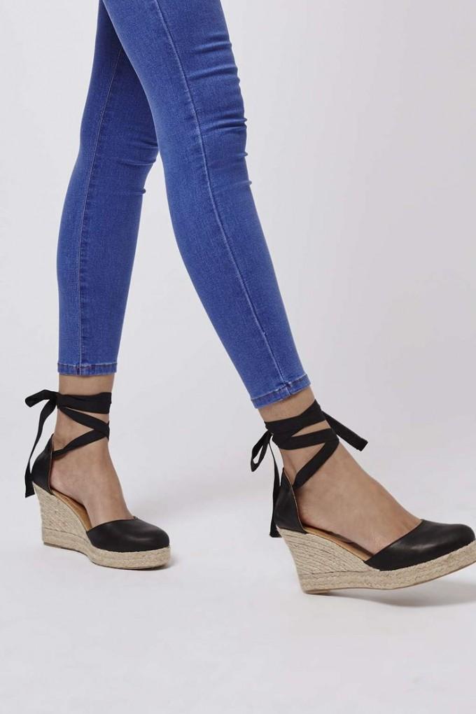 Navy Smoking Slippers | Espadrilles Tie Up | Espadrille Flat Sandals