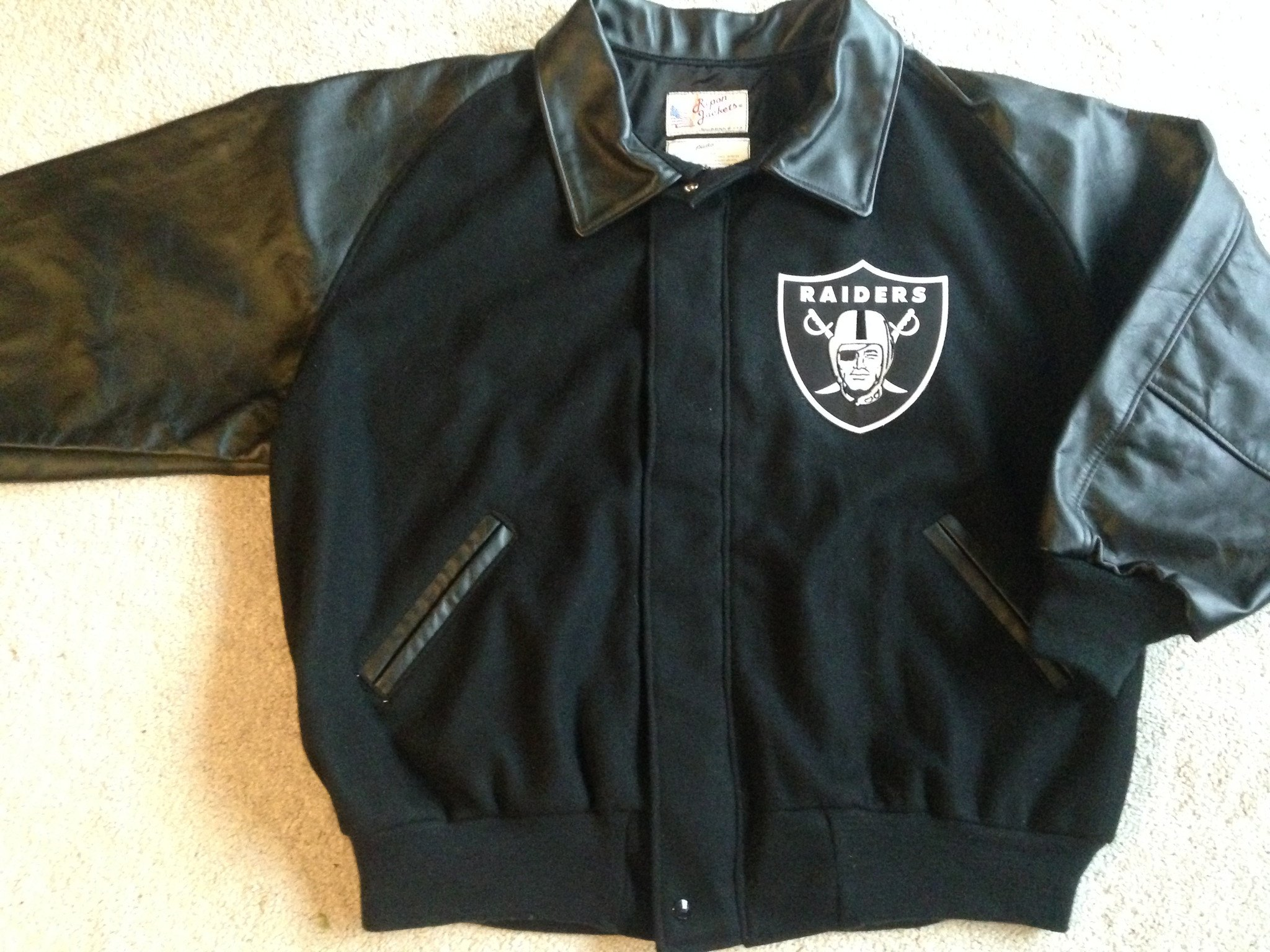 Nfl Raiders Jacket | Raiders Letterman Jacket | Raider Jacket