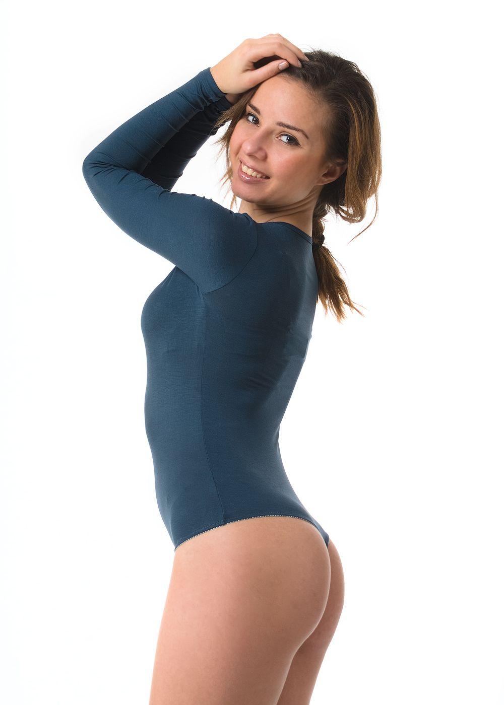 Nude Bustier | Thong Bodysuit | Long Sleeve V Neck Bodysuit