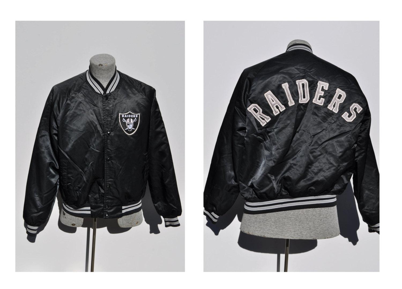 Oakland Raider Store | Vintage Raiders Starter Jacket | Raiders Varsity Jacket
