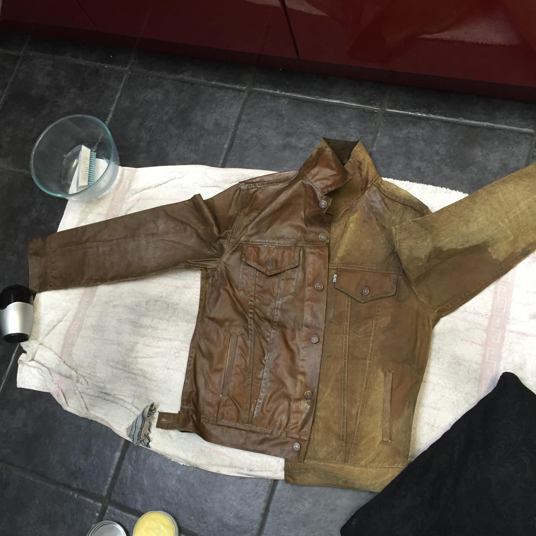 Oiled Jacket | Waxed Trucker Jacket | Mens Waxed Canvas Jacket