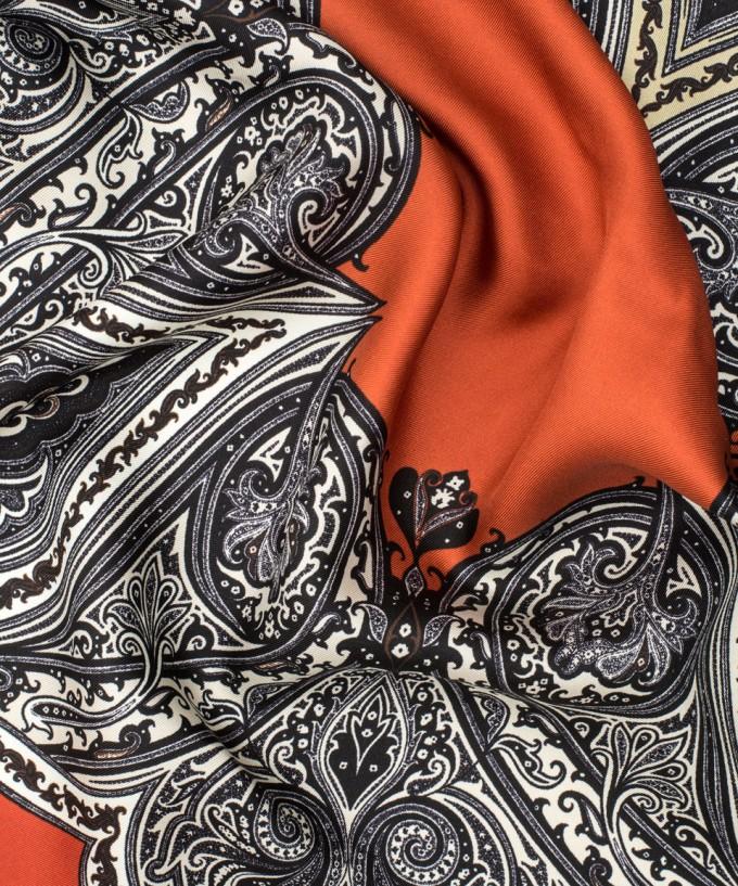 Oriental Scarf | Etro Leather Jacket | Etro Scarf