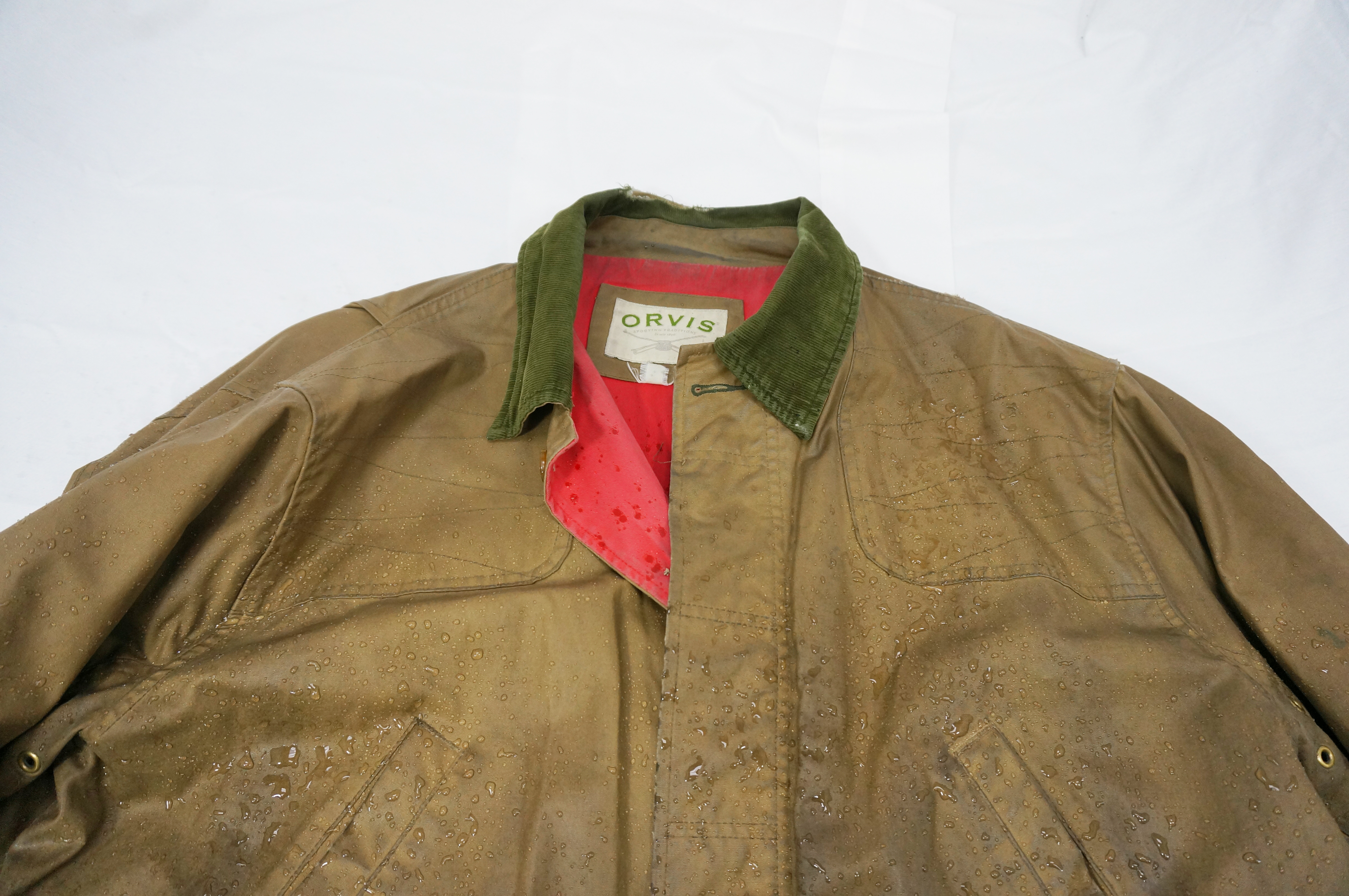 Orvis Heritage Field Coat | Mens Green Field Jacket | Waxed Raincoat