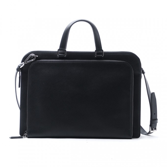 Ostrich Leather Briefcase | Ostrich Briefcase | Prada Briefcase