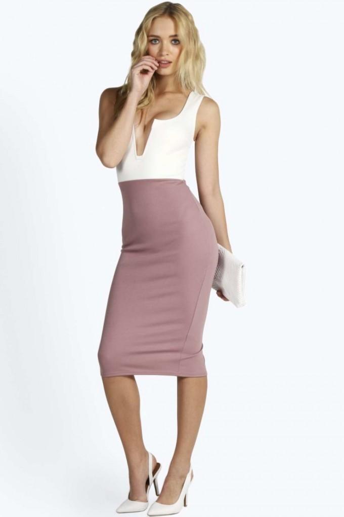Peach V Neck Dress | V Neck Maxi Dresses | Plunging Neckline Dress