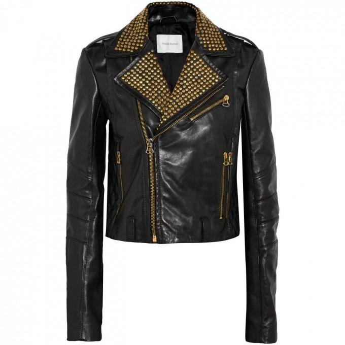 Pierre Balmain Leather Jacket | Balmain Leather Jacket | Black Balmains