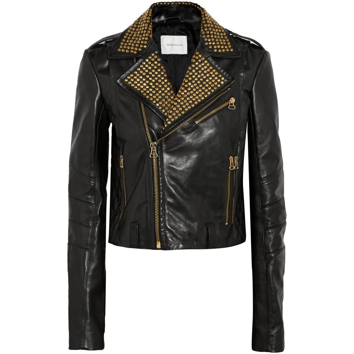Pierre Balmain Leather Jacket | Balmain Leather Jacket | Black Balmains