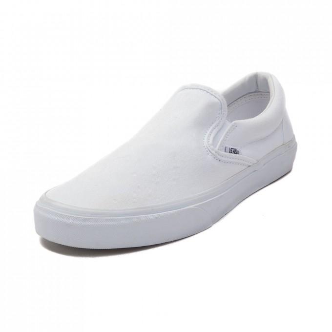 Pineapple Vans | Vans White Leather Slip On | White Van Slip Ons