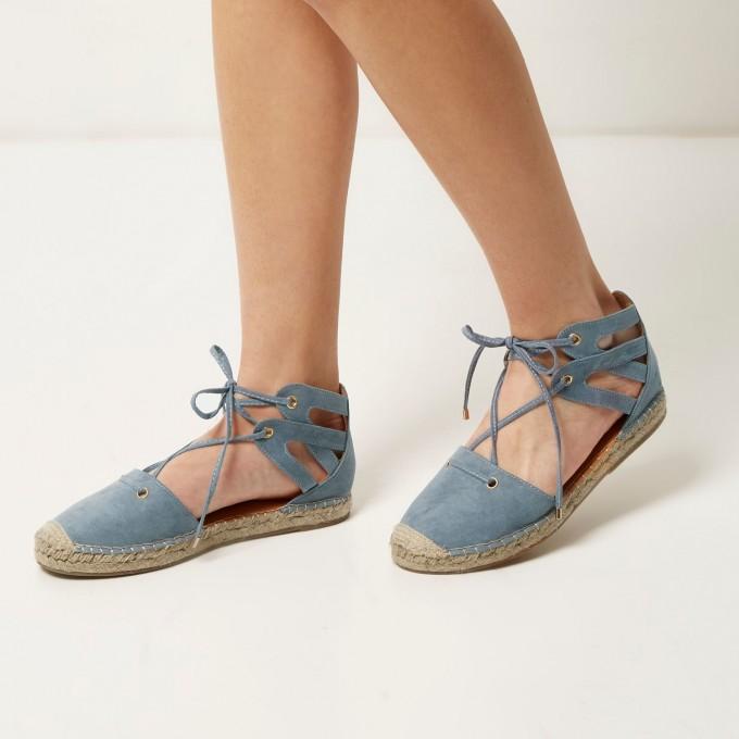 Platform Sandals Flat | Espadrilles Tie Up | Espirales Shoes