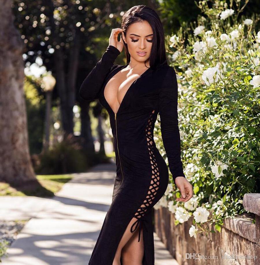 Plunge Tops | Plunging Neckline Dress | Deep V Neck Dresses