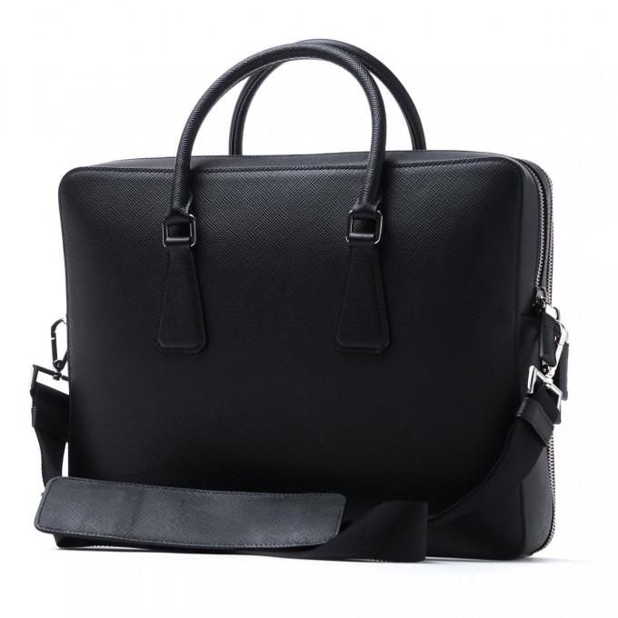 Prada Saffiano Wallet Men | Briefcase Straps | Prada Briefcase