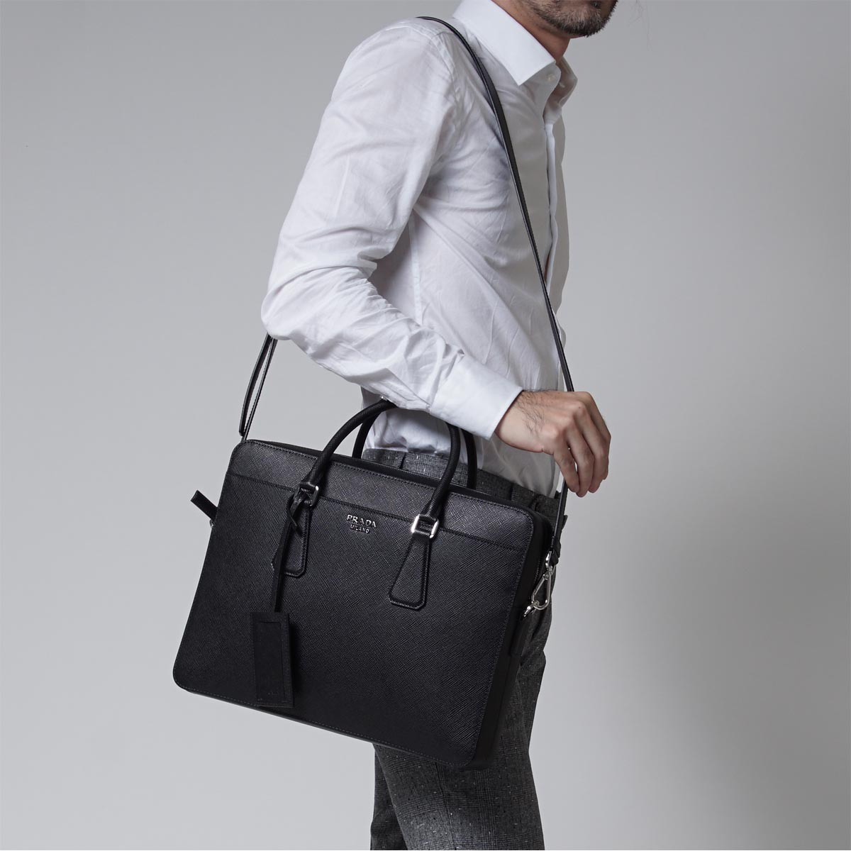 Prada Saffiano with Strap | Prada Briefcase | Prada Weekender Bag