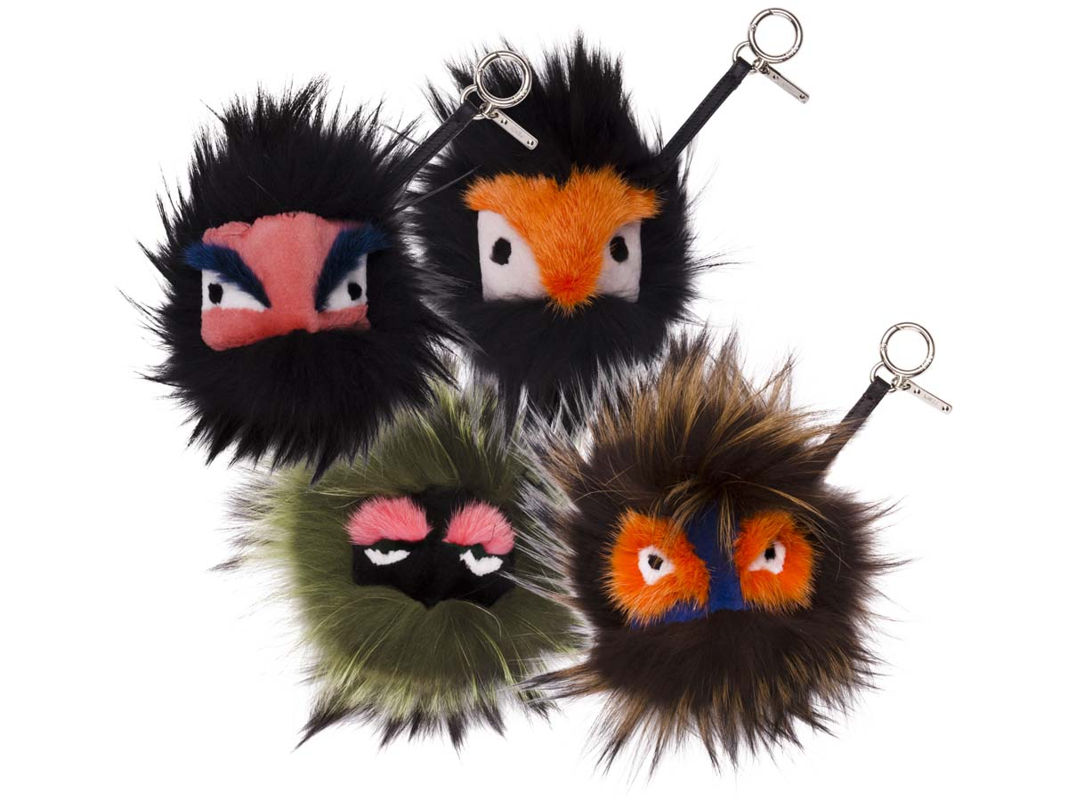 Puffy Keychain | Fendi Fur Monster | Fur Key Ring