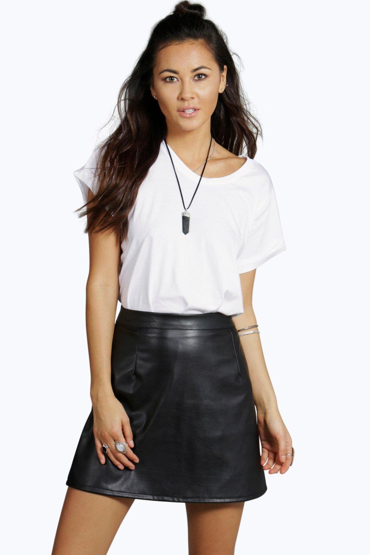 Purple Suede Skirt | Purple Pleated Mini Skirt | Faux Leather Skirt