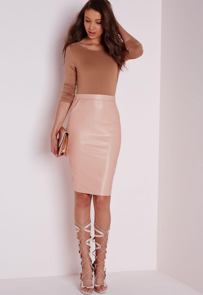 Pvc Short Skirt | Camel Leather Skirt | Faux Leather Skirt