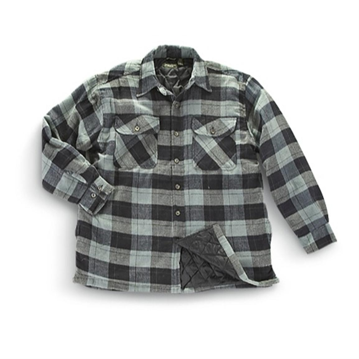 Quilted Flannel Shirt | Heavy Flannel Shirts | Camo Flannel