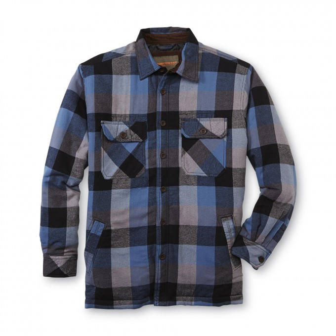 Quilted Flannel Shirt | Lined Flannel Shirt Mens | Men Flannel Shirt Jacket With Quilted Lining
