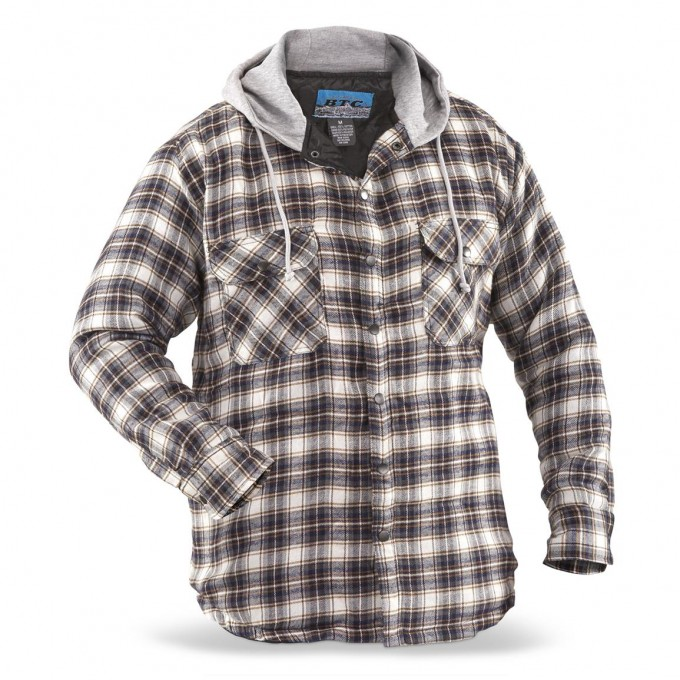 Quilted Flannel Shirt | Mens Flannel Plaid Shirts | Extra Long Flannel Shirts