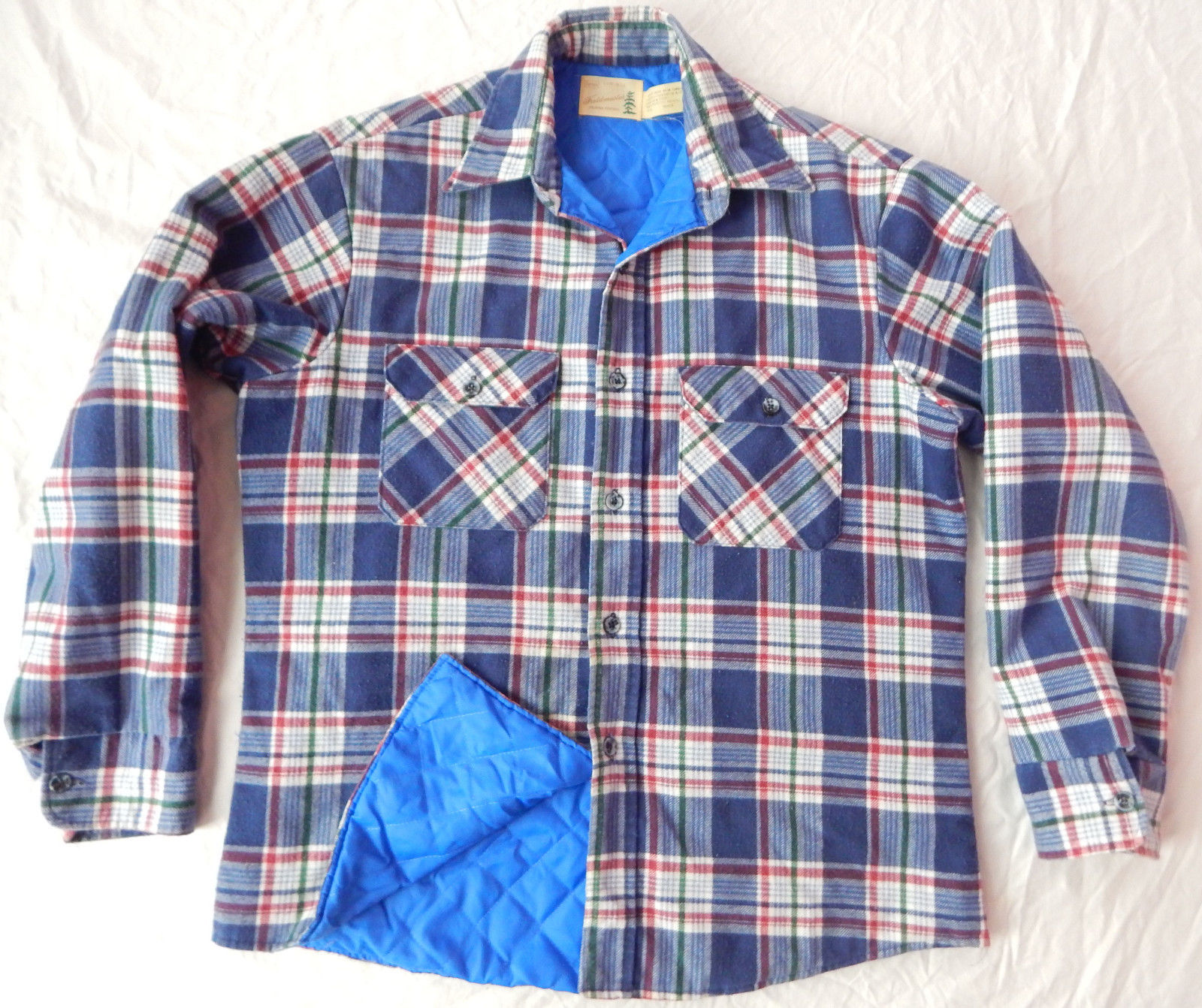 Quilted Flannel Shirt | Thick Flannel Shirts | Ll Bean Fleece Lined Flannel