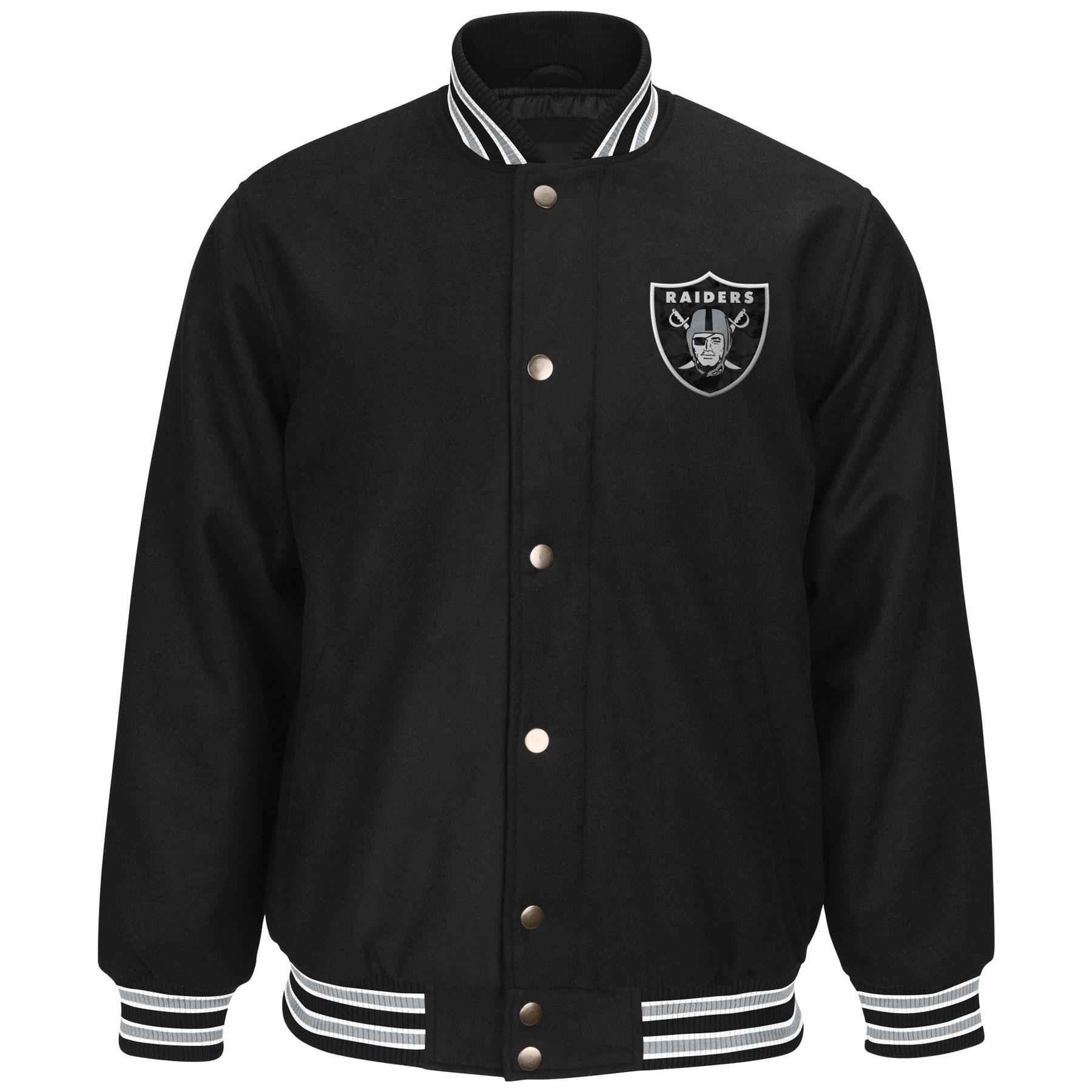 Raider Leather Motorcycle Jacket | Raiders Varsity Jacket | Oakland Raiders Boots