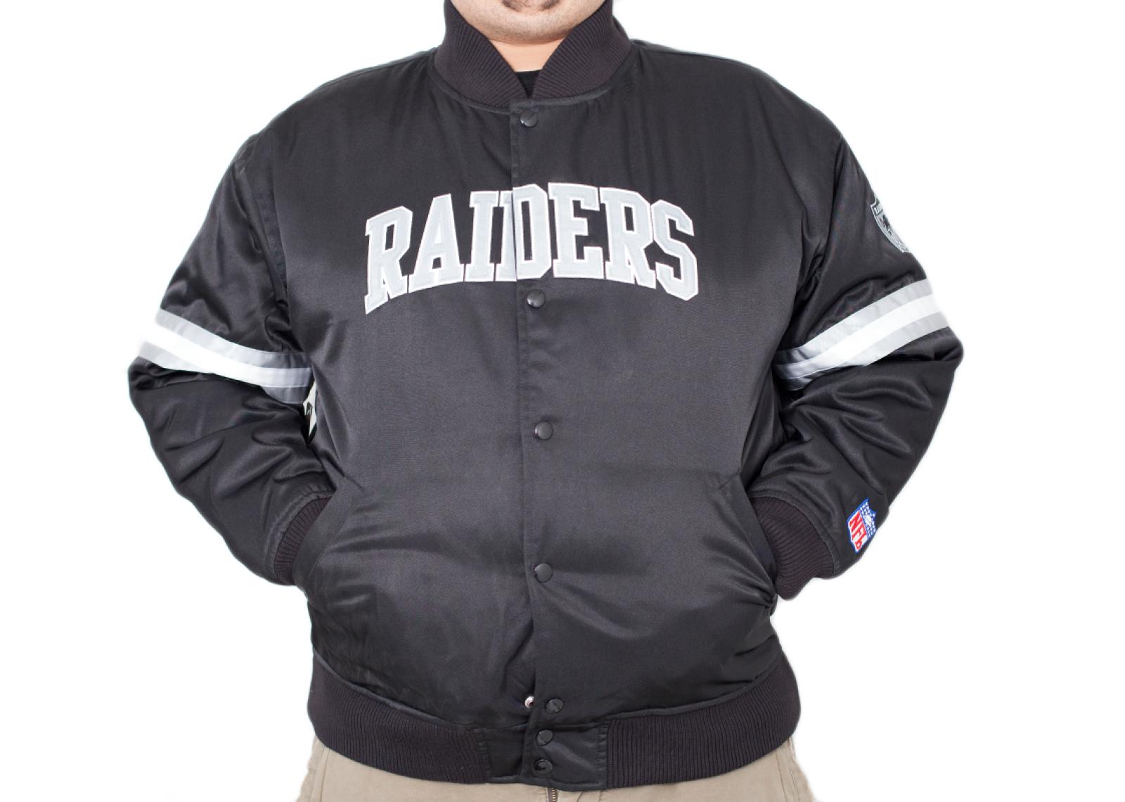 Raiders Bomber Jacket | Raiders Varsity Jacket | Majestic Raiders Jacket