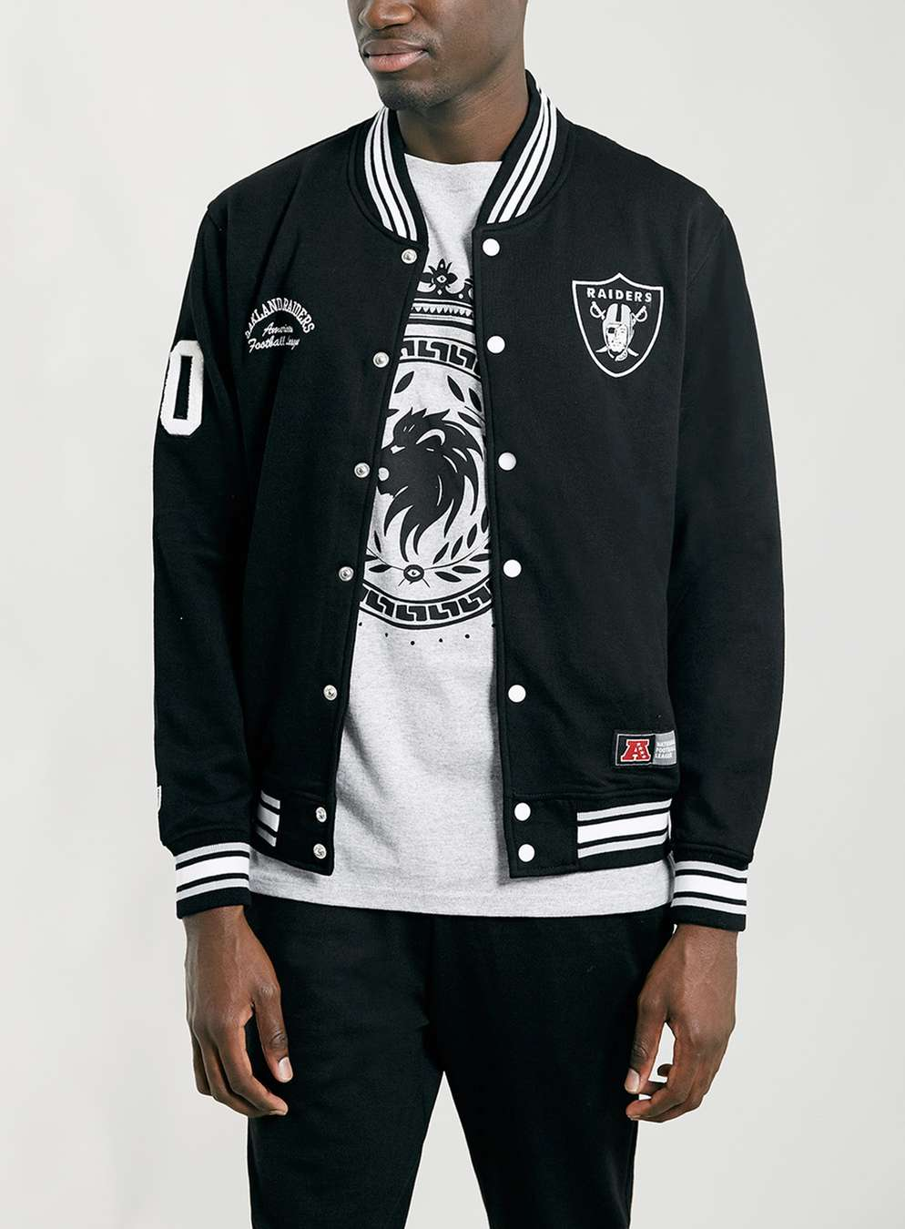 Raiders Letterman Jacket | Oakland Raiders Satin Jacket | Raider Blanket