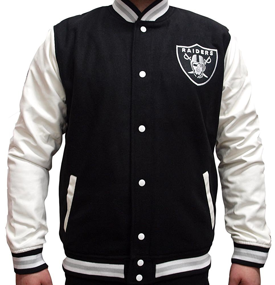 Raiders Letterman Jacket | Raiders Hoodie | Raiders Starter Jacket