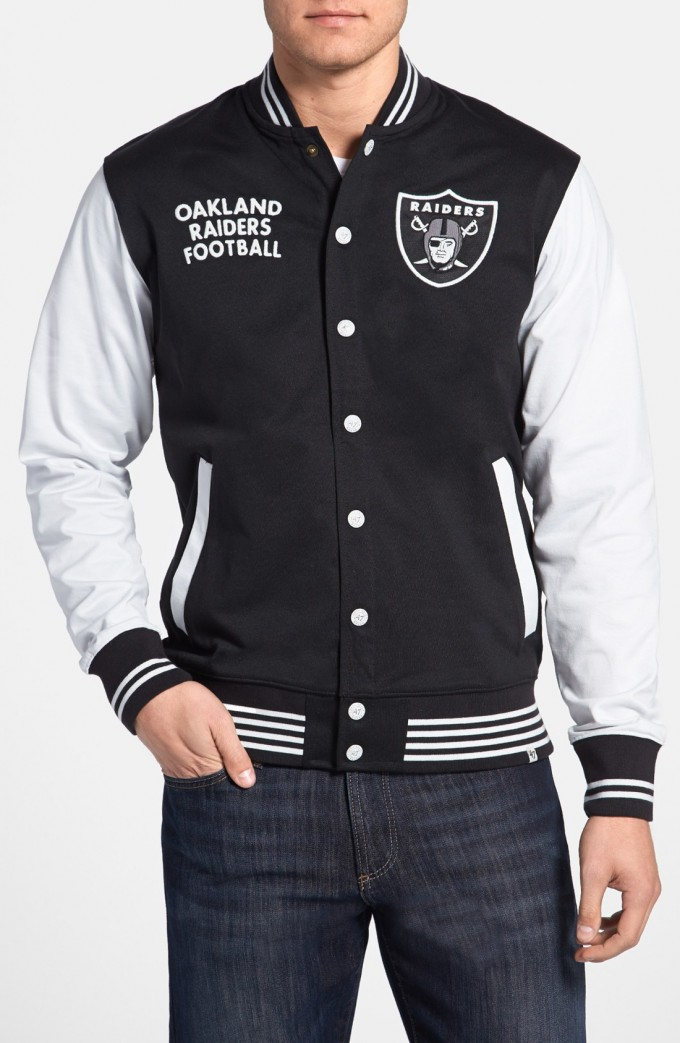 Raiders Varsity Jacket | Leather Raiders Jacket | Oakland Raiders Vest